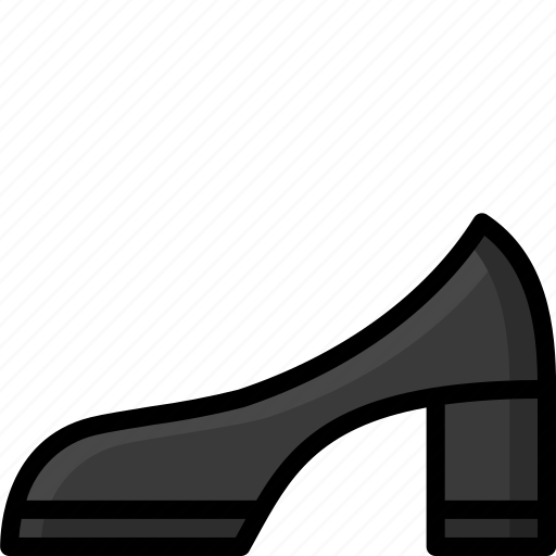 Clothing, colour, heel, mid, shoe, womens icon - Download on Iconfinder