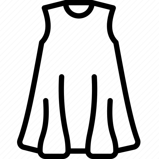 Clothing, dress, outline, tent, womens icon - Download on Iconfinder