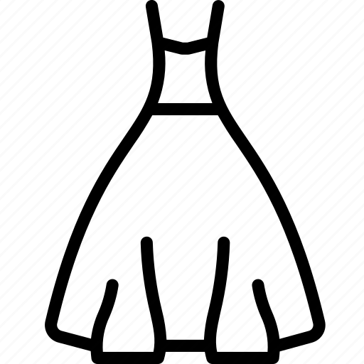 ball, clothing, dress, gown, outline, womens icon