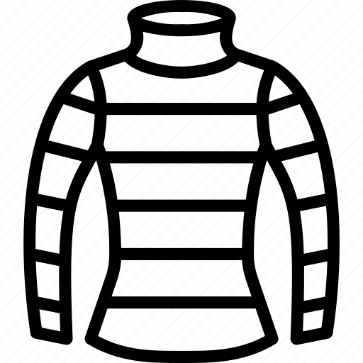Clothing, jumper, neck, outline, stripy, turtle, womens icon - Download on Iconfinder