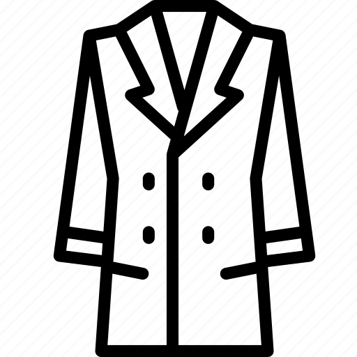 Clothing, coat, long, outline, womens icon - Download on Iconfinder