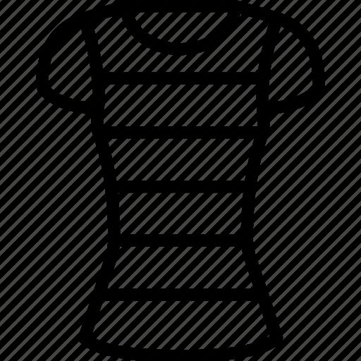 clothing, outline, shirt, stripy, tshirt, womens icon