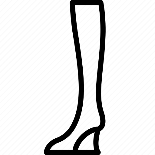Boots, clothing, high, knee, outline, wedge, womens icon - Download on Iconfinder