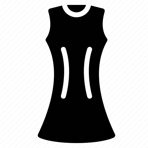 a, clothing, dress, line, solid, womens icon