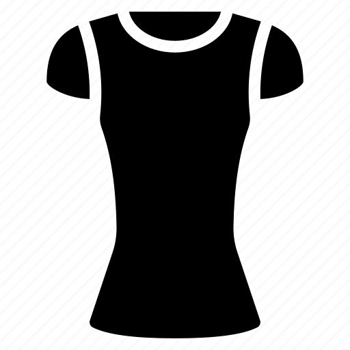 clothing, neck, round, shirt, solid, womens icon