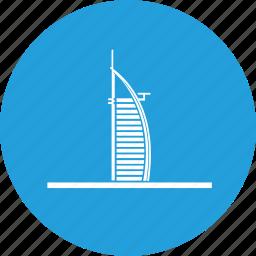 al, arab, burj, emirates, hotel, wonders icon