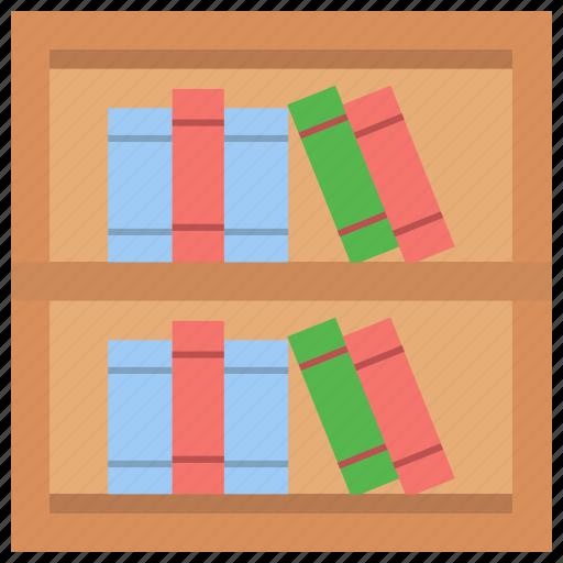 bookcase, books rack, bookshelf, furniture, library icon