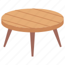 coffee table, furniture, lounge table, round table, side table icon