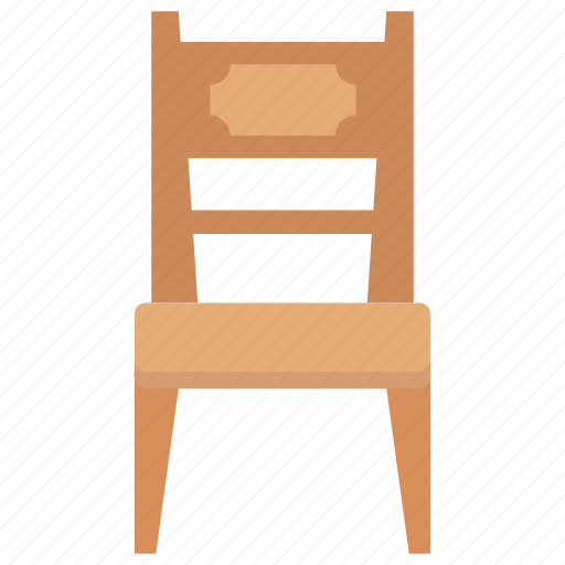 chair, dining chair, furniture, seat, windsor chair icon