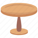 coffee table, furniture, lounge table, round table, side table