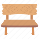 bench, garden furniture, outdoor furniture, park bench, patio furniture icon