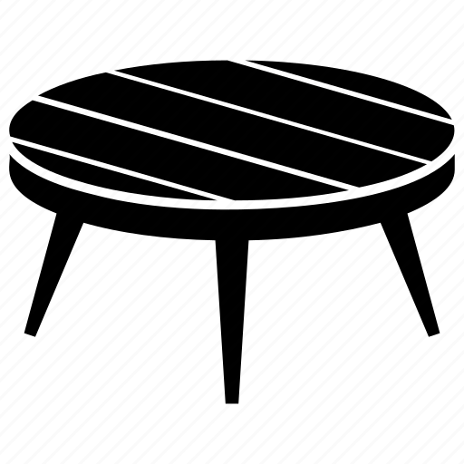 Coffee table, furniture, lounge table, round table, side table icon - Download on Iconfinder