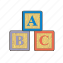 abc, baby, block, blocks, bricks, child, montessori icon