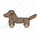 baby, child, children, dog, kid, toys, wood icon