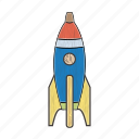 astronomy, planet, rocket, space, spaceship, toy, wooden icon