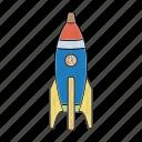 kindergarten, rocket, spaceship, toys, universe, wood, wooden icon