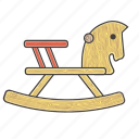 baby, child, horse, kids, toys, vintage, wooden icon