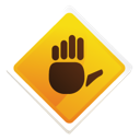 exclamation, hand, information, question, sign, stop icon