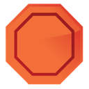 stop, warning icon