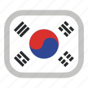 country, flag, flags, national, south korea, world icon