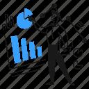 analyze, data, work, analysis, study, graph, chart icon