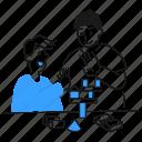 motivate, someone, work, idea, creativity, help, support icon