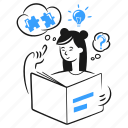 problem, solving, work, light, bulb, idea, solution icon