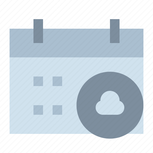 appointment, calendar, cloud, date, schedule icon