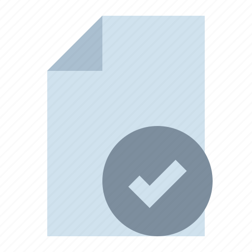 check, document, note, page icon