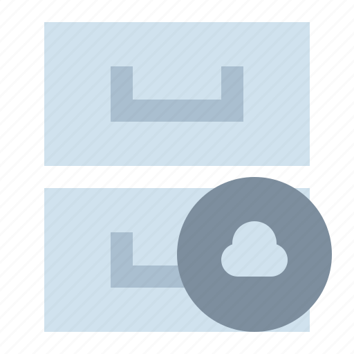 archive, cloud, library, storage icon