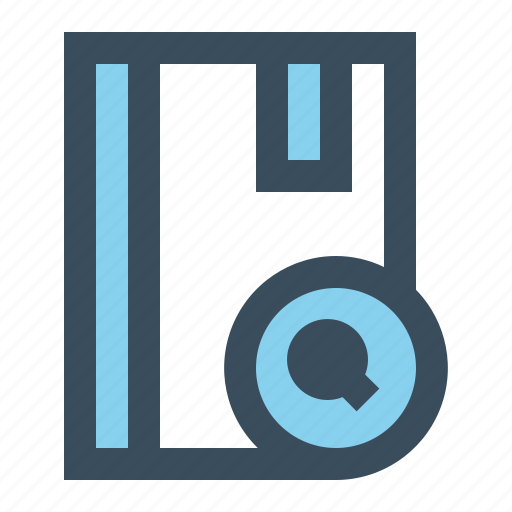 book, bookmark, read, search icon