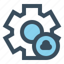 cloud, gear, manage, setting icon