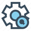 gear, manage, search, setting icon