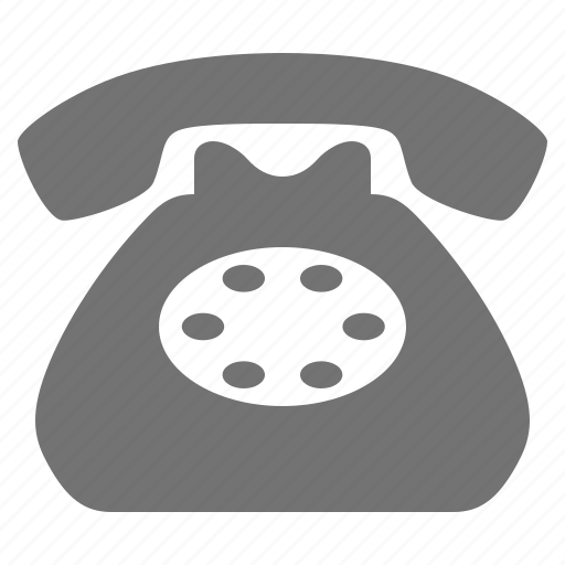 call, classic, communication, contact, dial, landline, phone icon