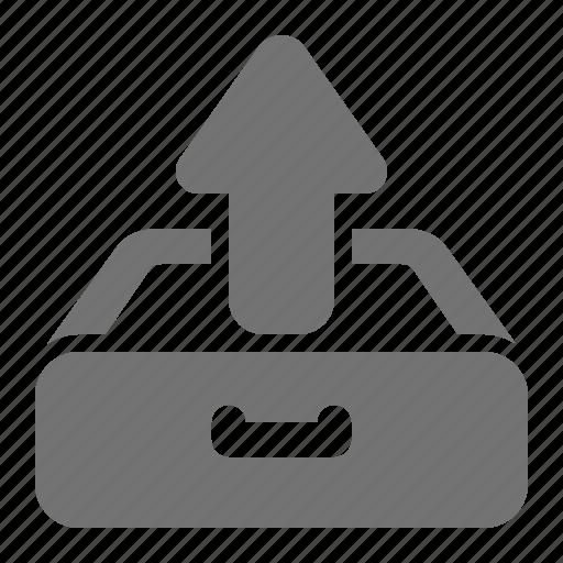 archive, arrow, data, drawer, storage, up, upload icon