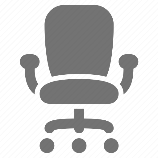 chair, desk chair, job, management, office, seat, work icon