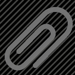 attach, attachement, clip, document, office supply, paper icon