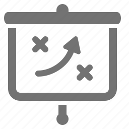 business, decision, obstacle, screen, solution, strategy, tactics icon