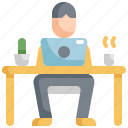 desk, office, table, work, working, working at home icon