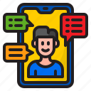 from, home, mobilephone, work, worker icon