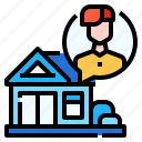 at, bubble, protection, quarantine, speech, stay, work from home icon