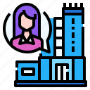 bubble, condominium, protection, quarantine, speech, stay, work from home icon