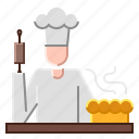 baker, catering, chef, food, kitchen icon
