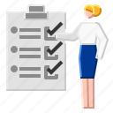 business, list, notepad, plan, work icon