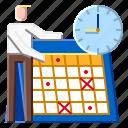 business, calendar, plan, schedule, work icon