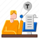 correction, document, edit, mistake, proofreading icon
