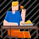 break, eating, food, lunch, sitting icon
