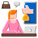 business, marketing, online, sale, store icon