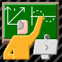 education, online, school, teacher, web icon