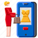 commerce, e, online, owner, product, seller, store icon